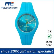 warm color fashion silicone watches for girls young lady silicone popular watch