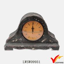 Wood Retro Table Stand Antique Mantel Clock