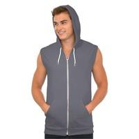 Mens Hooded Sleeveless Zip Up Hoodies