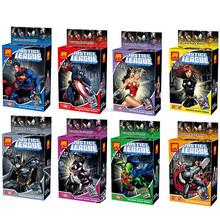 Super Heroes 8pcs/set Building Blocks Minifigures 4.5cm Thor/widow/Wonder Woman Action Figure Model Doll Toys