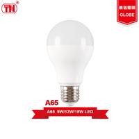 New type a65 led light bulbs 9W 12W 15W E27 Plastic Aluminum ic drive