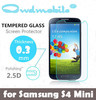 factory supply!9H Tempered screen protector for Samsung S4 MINI 0.3mm round edge