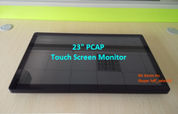 HDF 23 inch arcade game lcd monitor / 3M ELO compatible pcap multi touch screen display