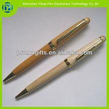 Novelty 2014 wooden ball pen,wooden carving pen,cheap wood pen for promotional item