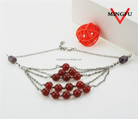 MINGFU factory supplier fake imitation ruby beads necklace design