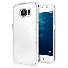 For samsung galaxy s6 edge case tpu ultra thin and flexible transparent silicone skin tpu gel cover