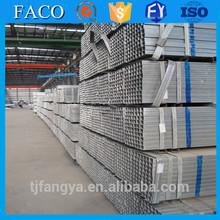 Tianjin gi square rectangular pipe ! carbon galvanized tube prime standard steel oem pre galvanized steel pipe