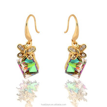 new arrival earringsFashion jewelry 2015 Butterfly Fashion Earrings with cube crystal