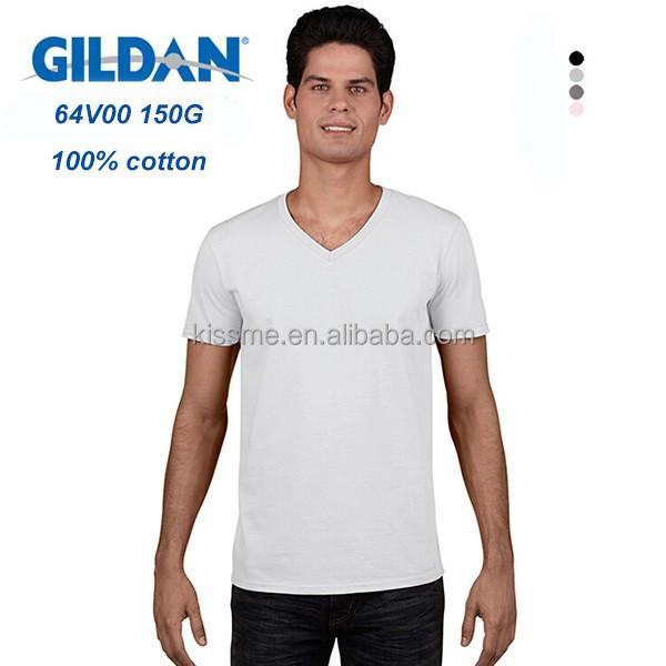 gildan v neck white t shirts wholesale bulk v neck t shirt