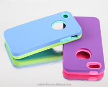 2015 lastest three in one silicone&plastic mobile phone case for iphone 6 plus