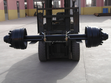 HIGH QUALITY GERMAN TYPE AXLE WITH BRAKE AND DUST COVER