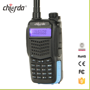 CHIERDA CD-X3UV VHF UHF Doppel Band 128 Kanäle Handheld-typ Sprech Durable Design