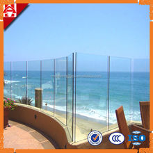 self clearning tempered glass pool fence