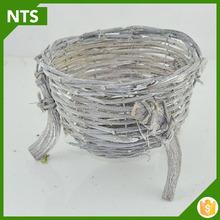 Customized Handicraft White Wood Rattan Basket