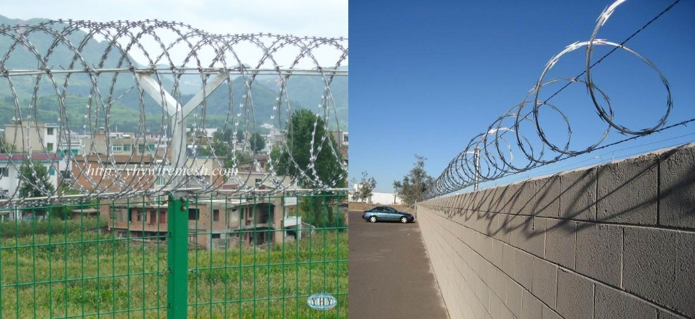 Galvanized Iron Wire Material-razor Barbed Wire Type Safety Fence ...