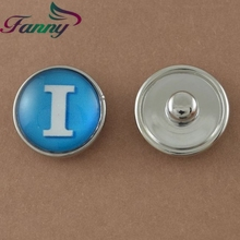 N015 Button For Bracelet Round Shaped Alloy Button Charms
