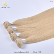 Direct Factory Golden Supplier Top Quality Remy Human Hair Weft No Shedding No Tangle Double Drawn leshine hair company