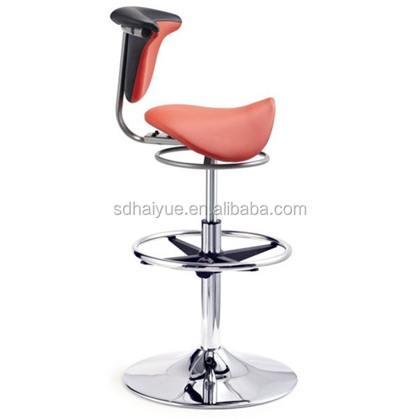 New Arrival Ergonomic Saddle Seat Chair Barstools Swivel