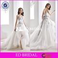 Zy100 2016 bela Custom Made frente curto longo voltar azul Royal e branco vestidos de casamento