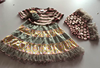 2015High quality clothing children sets boutique ruffled dresses&polka dot shorts sets children's summer outfits