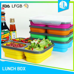 Compartment FDA certificated divide food storage containers