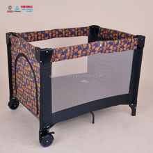 Baby Crib With Safety Wheels, antique baby cribs playyard, baby portable folding bed
