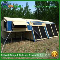 Super quality aluminium frame pvc canvas trailer tent