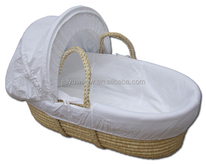 100 handgefertigt stubenwagen korbwaren baby korb babytrage korb mit liner und matratze willow. Black Bedroom Furniture Sets. Home Design Ideas
