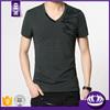 100%cotton black longline men double zipper t shirt design for oem