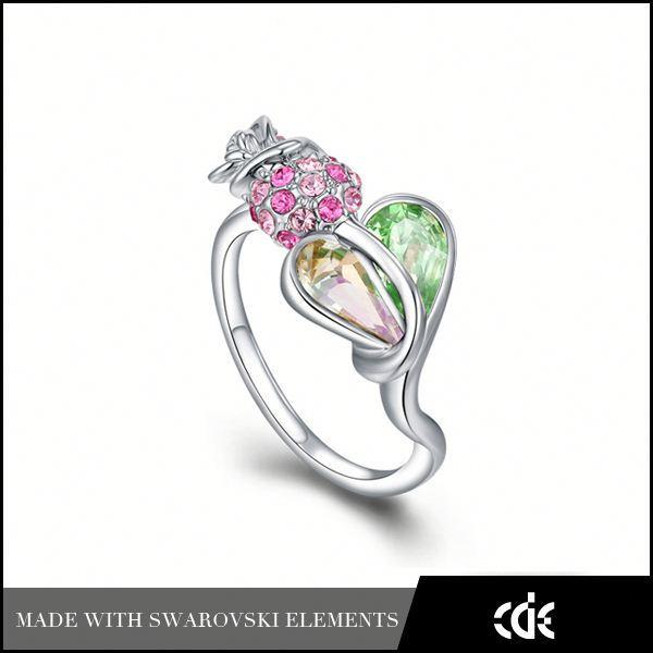 cde bijoux en gros de los angeles en californie fleur rose bague à quartz