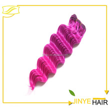 Cheap Wholesale High Quality Synthetic Hair Weave 2T color Ripple Deep Wave Synthetic hair weaving