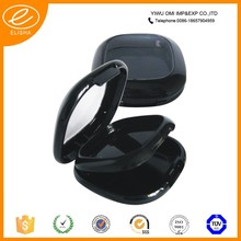 Luxury cosmetic black empty compact powder container