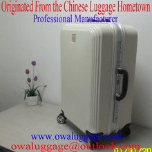 Hot Sale High Quality Fashion Aluminum Suitcase Plastic PC Hard Shell Case Hard Luggage D-006