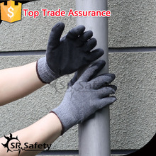 SRSAFETY quality polycotton liner coated latex gloves different classes work gloves good price