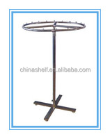 New design zinc plated round metal clothes rack