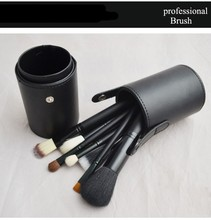 QK airbrush 12pc makeup brush set canister brushes with cylinder