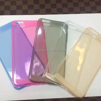 Super thin 0.5mm cover for iphone 6/6s clear TPU case, glitter mobile phone case