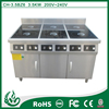 Six head new design commercial best induction range for kitchen