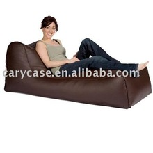 brown large single beanbag sofa