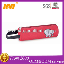 600D polyester round pencil bag