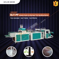 SLT-PF Automatic Double Line High Speed T-Shirt Bag Making Machine