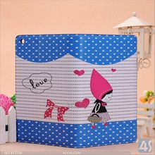 New Product 2014 For iPad Mini 2 Case Cute Girl Leather Cover Case with Stand P-IPDMINIiiCASE003