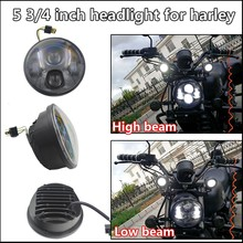 Discount !5.75 inch LED headlight without DRL for Harley motorcycle