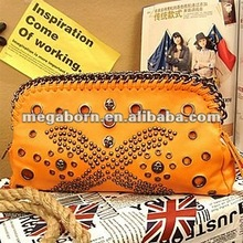 2015 Newest Eyelet Studded Stylish Fashion Hand Bag Unique Women Clutch Bag