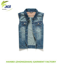 2014 hot sell wholesale high quality short sleeveless denim jeans polo shirt
