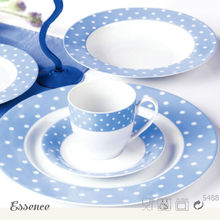 New arrived blue and white germany dinnerware sets porcelain