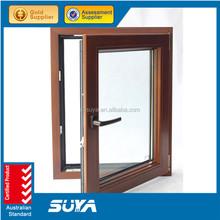 Beautiful life triple glazed aluminium clading wood tilt and turn Window