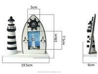 Cheap Christmas decorations Wooden crafts Wooden Lighthouse