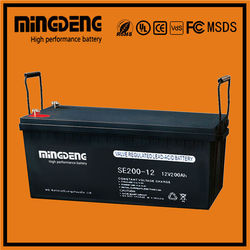 Pakistan market 24v deep cycle battery 200ah agm battery with long cycle life