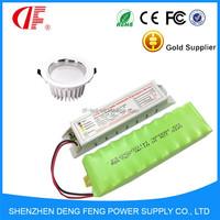 Emergency power inverter kit and green batteries for Emergency light 6 watt led 1.5hours 6V